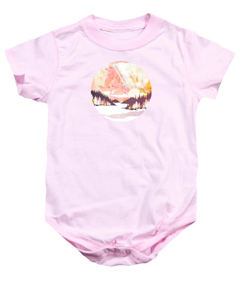 Winter Abstract Baby Onesie