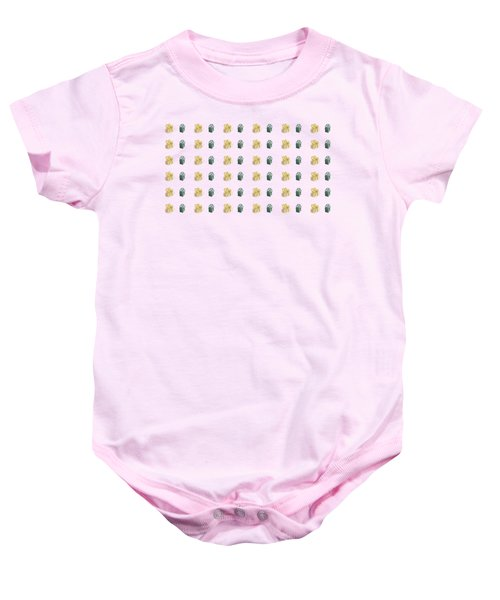 Yellow And Green Present Pattern Baby Onesie