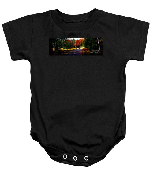 Acadia National Park Carriage Trail Fall  Baby Onesie
