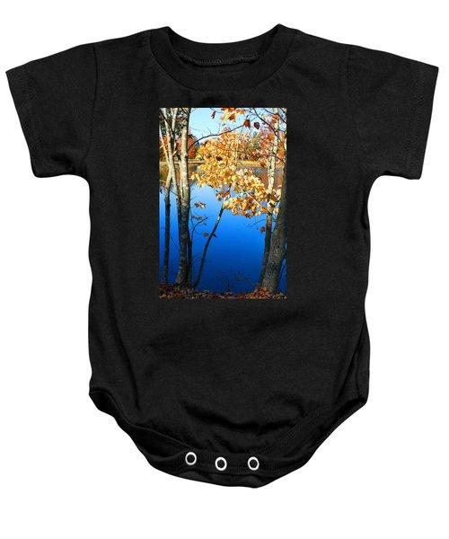 Autumn Trees On The Lake Baby Onesie