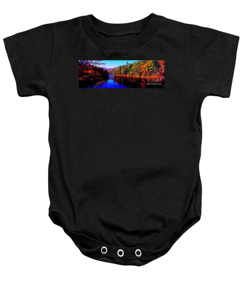 White Mountians National Park Red Eagle Pond New Hampshire Baby Onesie