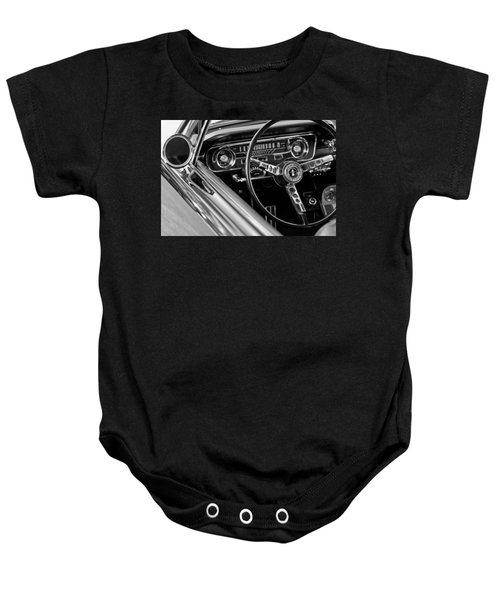 1965 Shelby Prototype Ford Mustang Steering Wheel Baby Onesie