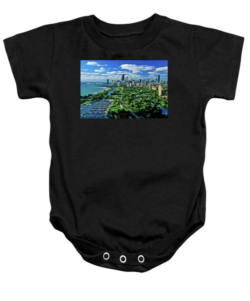 Aerial View Of Chicago, Illinois Baby Onesie