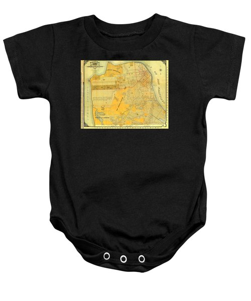 Britton And Reys Guide Map Of The City Of San Francisco. 1887. Baby Onesie