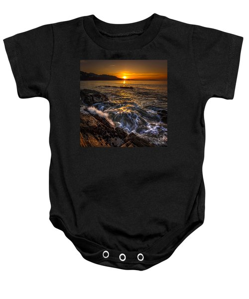 Chamoso Point In Ares Estuary Galicia Spain Baby Onesie