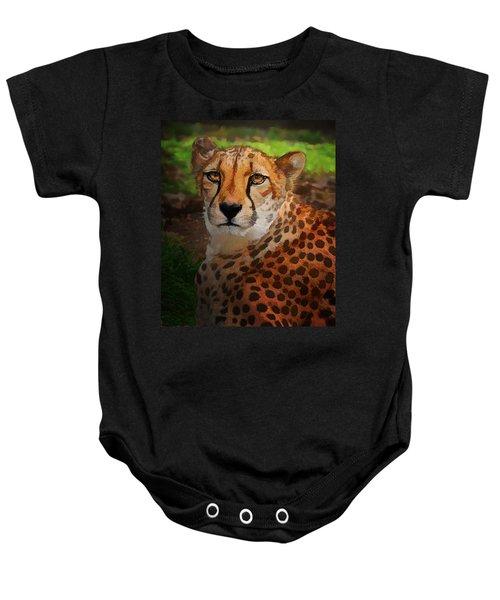 Cheetah Mama Baby Onesie