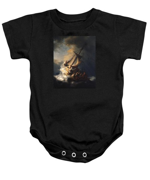 Christ In The Storm On The Sea Of Galilee Baby Onesie