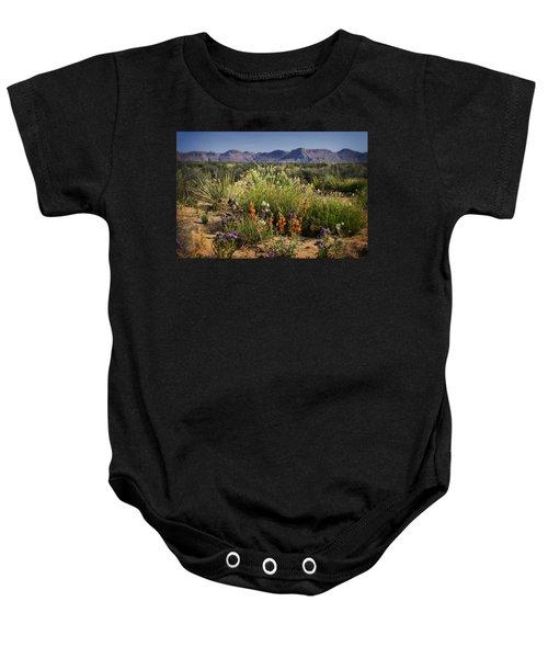 Desert Wildflowers Baby Onesie
