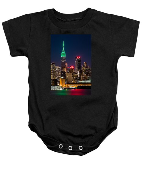 Empire State Building On Saint Patrick's Day Baby Onesie