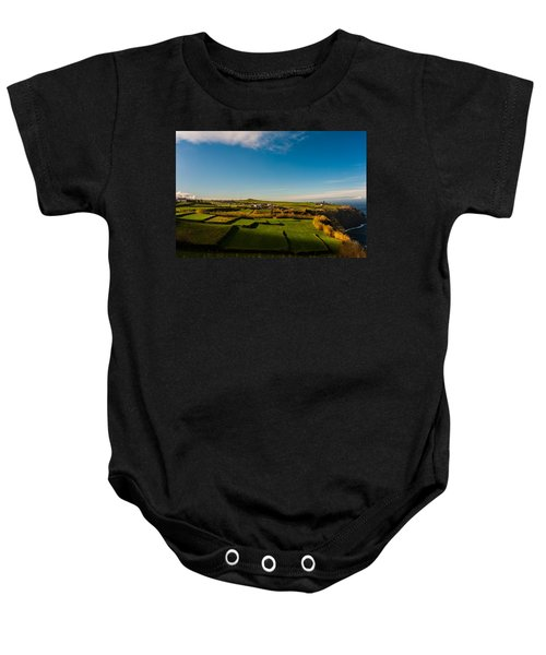 Fields Of Green And Yellow Baby Onesie