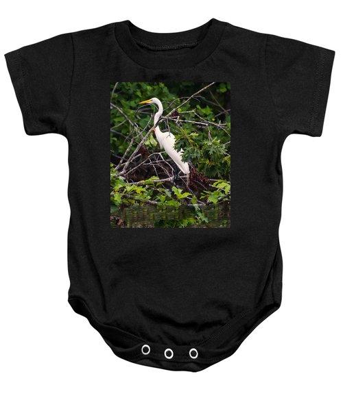 Great White Egret Baby Onesie