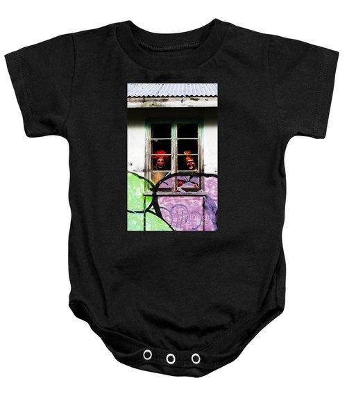 Haunted House Of Horrors Baby Onesie