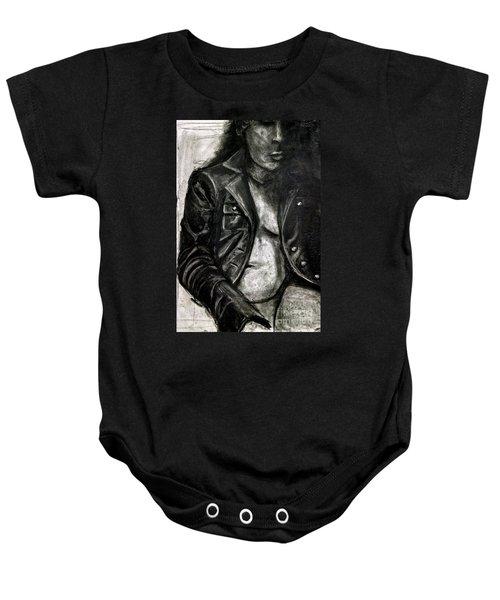 Leather Jacket Baby Onesie