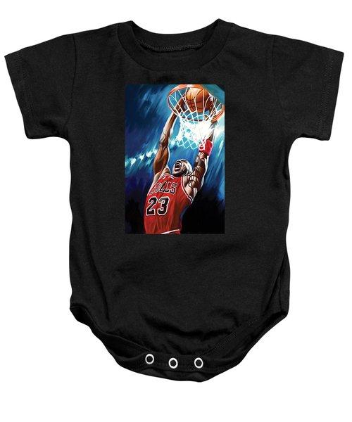 Michael Jordan Artwork Baby Onesie