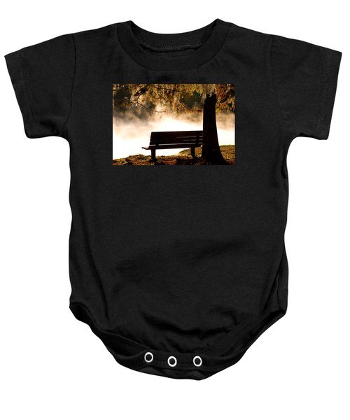 Morning Mist At The Spring Baby Onesie