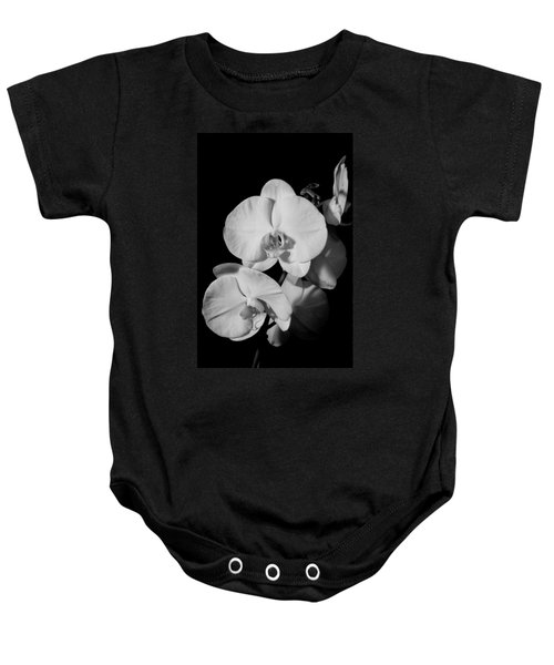 Moth Orchid Bw Baby Onesie