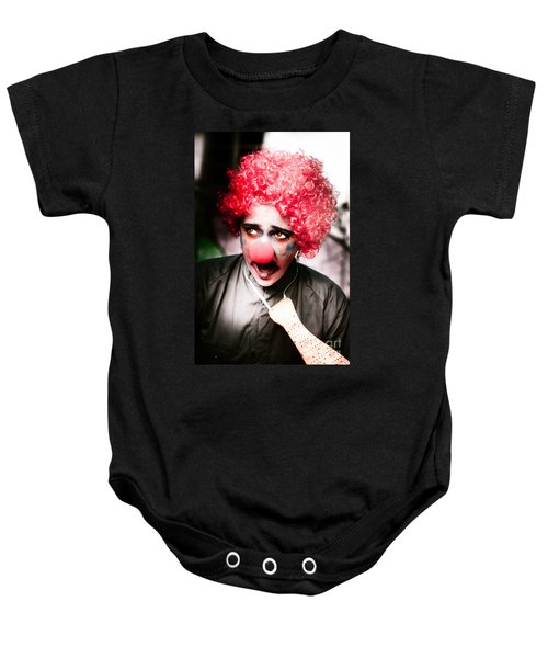 Ms Frightened The Scared Clown Baby Onesie