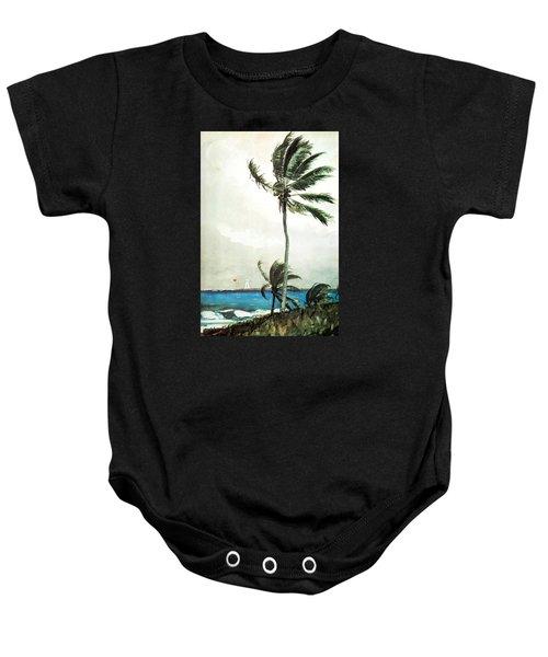 Palm Tree Nassau Baby Onesie