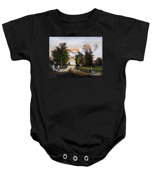Passing The Time Baby Onesie