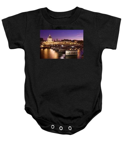 Pont Des Arts And Institut De France / Paris Baby Onesie