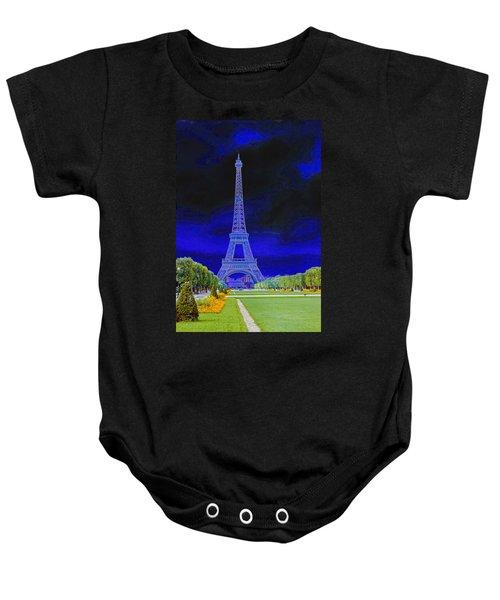 Purple Eiffel Baby Onesie