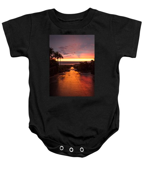Sunset After Rain Baby Onesie