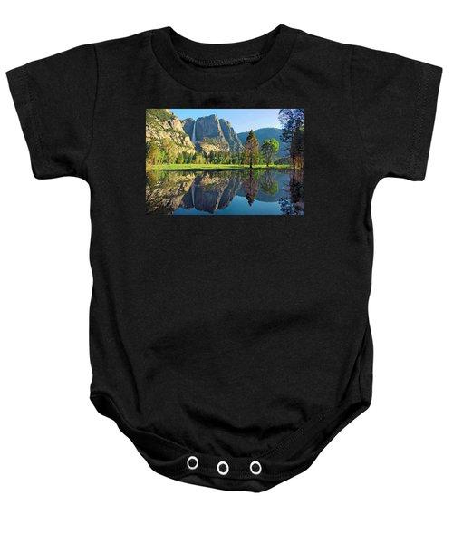 Reflections Of Yosemite Falls Baby Onesie