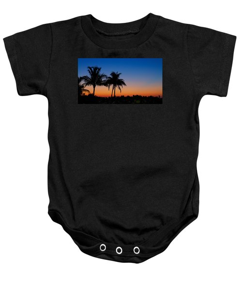 Sanibel Island Florida Sunset Baby Onesie