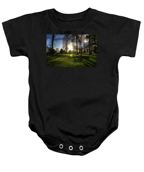 Short Days Long Shadows Baby Onesie