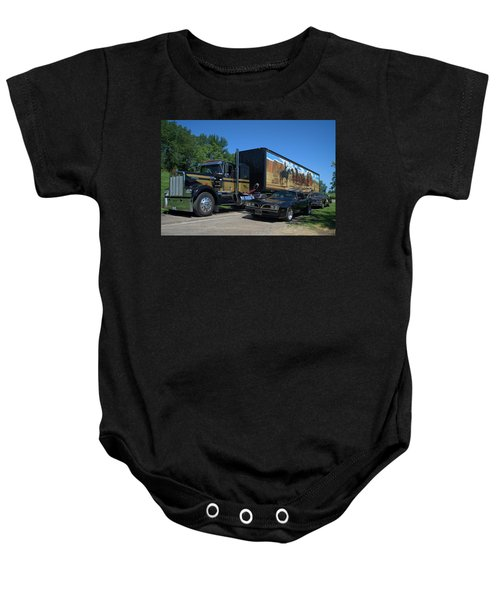 Smokey And The Bandit Tribute 1973 Kenworth Semi Truck And The Bandit Baby Onesie