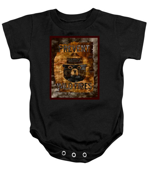 Smokey The Bear Only You Can Prevent Wild Fires Baby Onesie