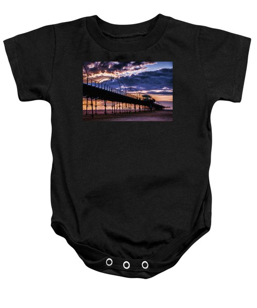Southport Pier At Sunset Baby Onesie