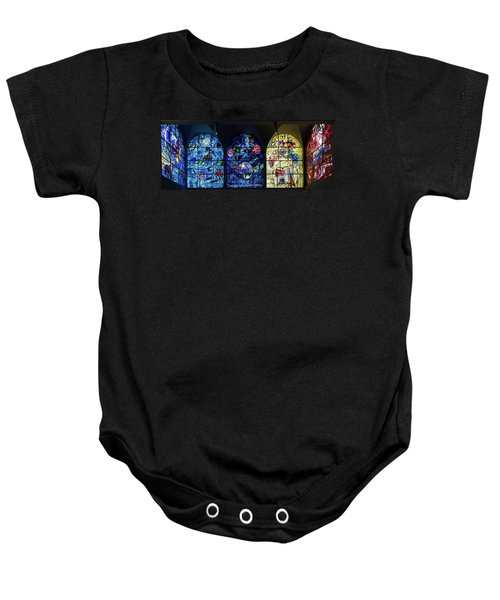 Stained Glass Chagall Windows Baby Onesie