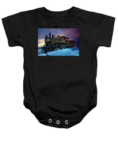 Steam Engine Nevada Northern Baby Onesie