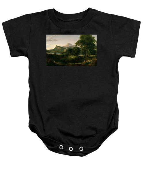 The Course Of Empire The Arcadian Or Pastoral State Baby Onesie