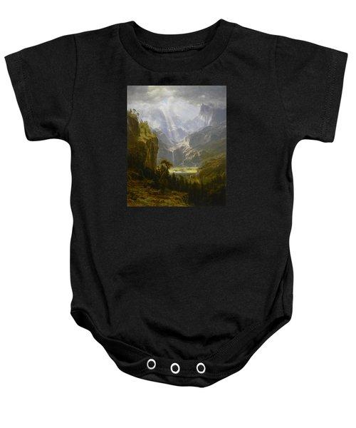 The Rocky Mountains Lander's Peak Baby Onesie