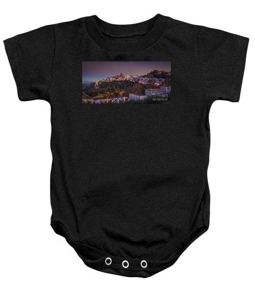 Vejer De La Frontera Panorama Cadiz Spain Baby Onesie