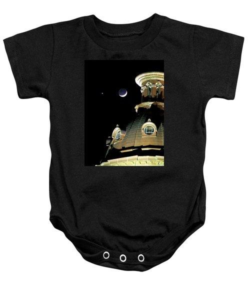 Venus And Crescent Moon-1 Baby Onesie