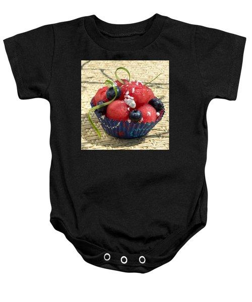 Watermelon Blueberry And Goatcheese Baby Onesie