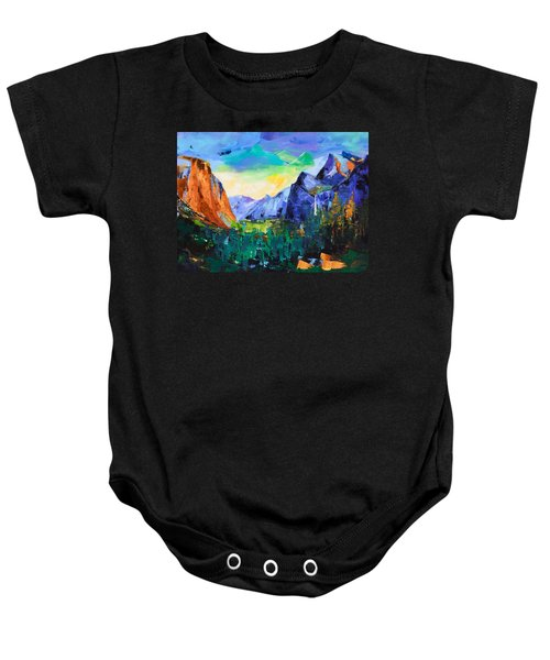Yosemite Valley - Tunnel View Baby Onesie