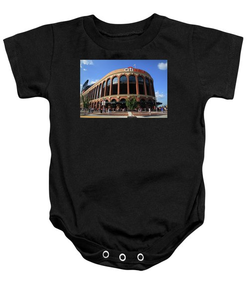 Baby Onesie featuring the photograph Citi Field - New York Mets 3 by Frank Romeo