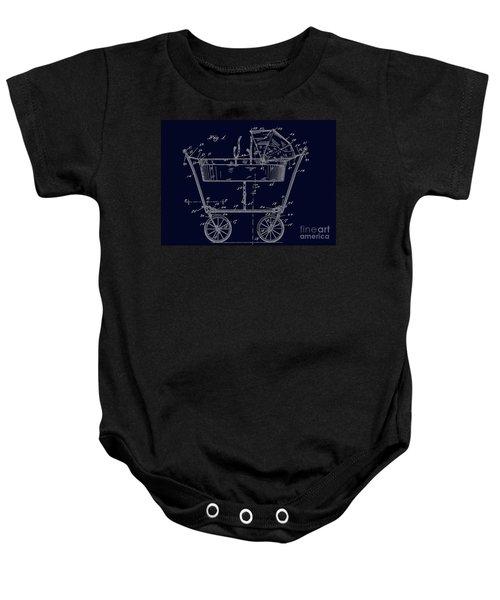 1922 Baby Carriage Patent Art Blueprint Baby Onesie