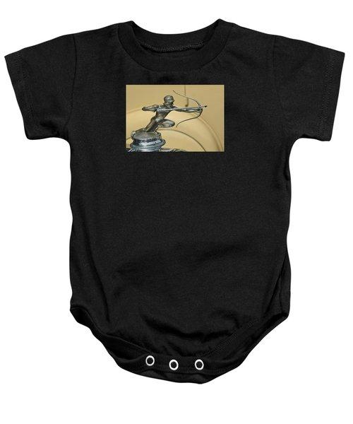 1928 Pierce Arrow Helmeted Archer Hood Ornament Baby Onesie