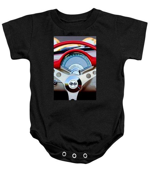 1957 Chevrolet Corvette Convertible Steering Wheel Baby Onesie