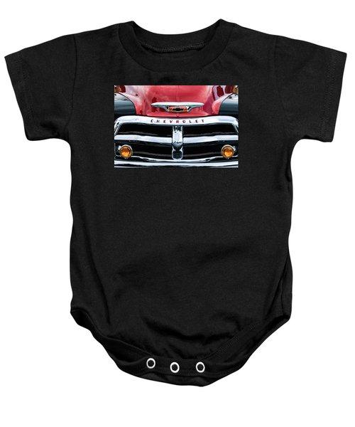1955 Chevrolet 3100 Pickup Truck Grille Emblem Baby Onesie