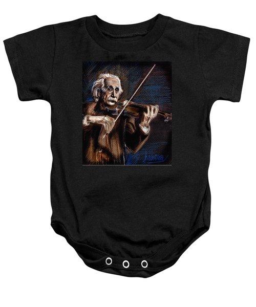 Albert Einstein And Violin Baby Onesie