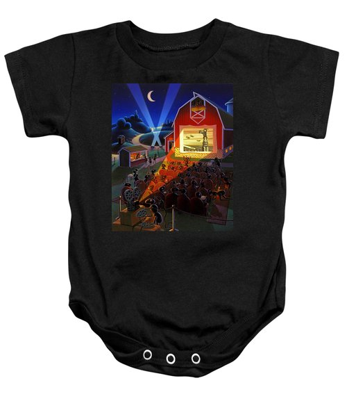 Ants At The Movies Baby Onesie