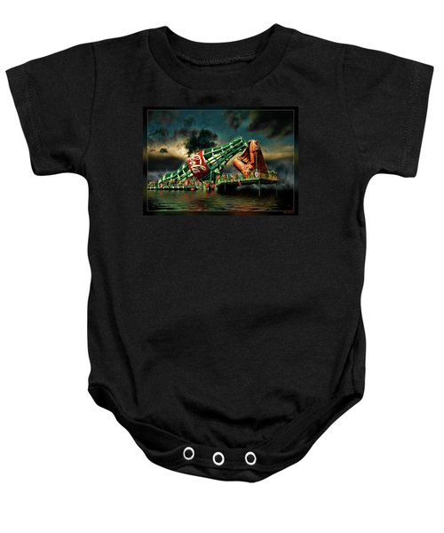 Floating Coke Bottle Baby Onesie