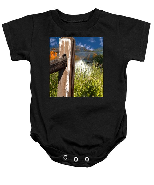 Landscape With Fence Pole Baby Onesie
