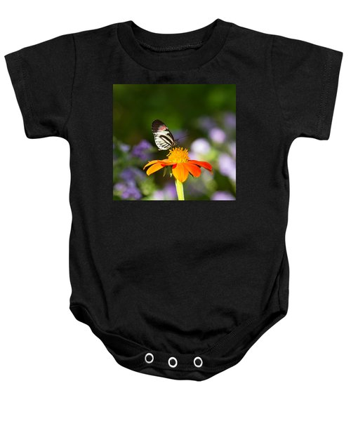 Piano Key Butterfly Baby Onesie